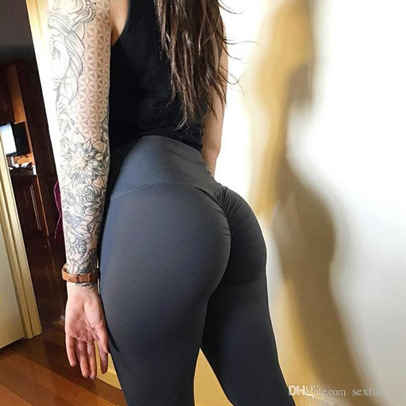 Pantalon Femmes Mode Push Up Hip Leggings Yoga Fitness leggings filles respirant Fitness dames taille haute Legins