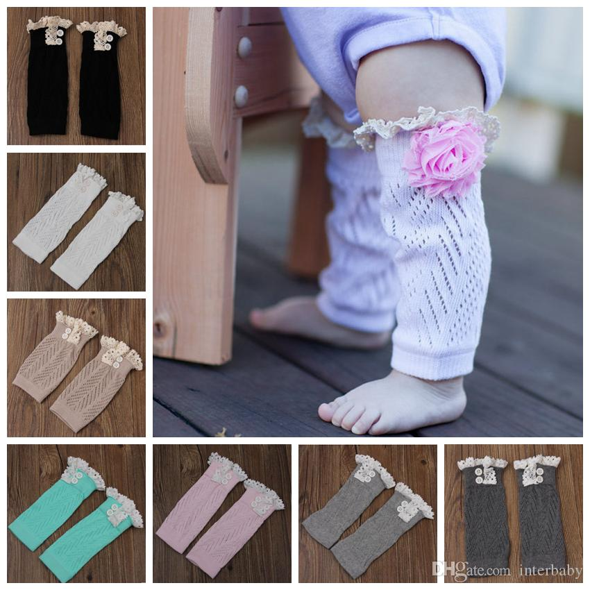 Lace Leg Warmers Baby Christmas Boot Socks Winter Warm Toddler Trim Knitted Boot Cuffs Socks Covers Knee High Socks 7 Designs LDH161