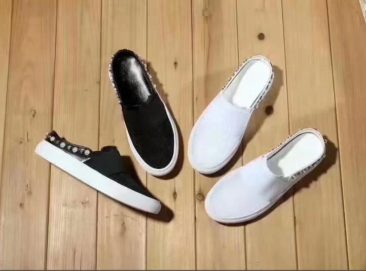 kadınlar Rhinestone boncuklu için 2018 Yeni Moda Ayakkabılar Plaj spor pedikür Terlik Mesh Yüzey Boş Sandalet Deri flip flop