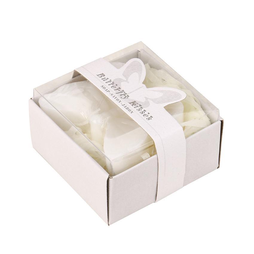 2018 горячий романтический творческий бабочка форма свадебные сувениры свадебный подарок партии мини душистый душ ванна мыло свадебный подарок