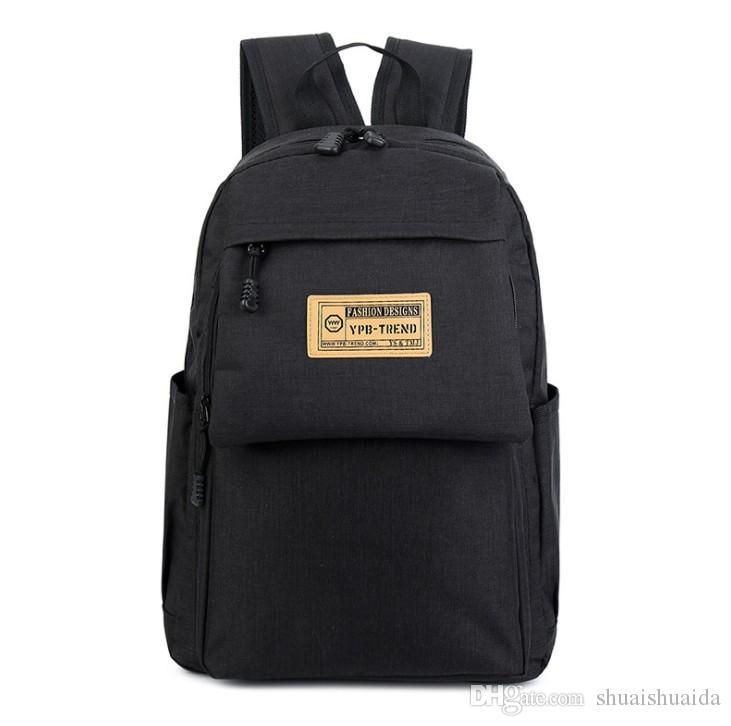 2018 компьютер сумка Спорт на открытом воздухе путешествия Рюкзак школьный рюкзак Рюкзак холст чистый цвет мужчины и женщины школьные сумки Сумка 20-35L A181
