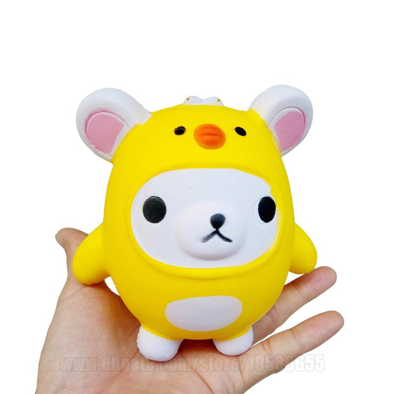 Yellow Bear Squishy Cartoon Slow Rising