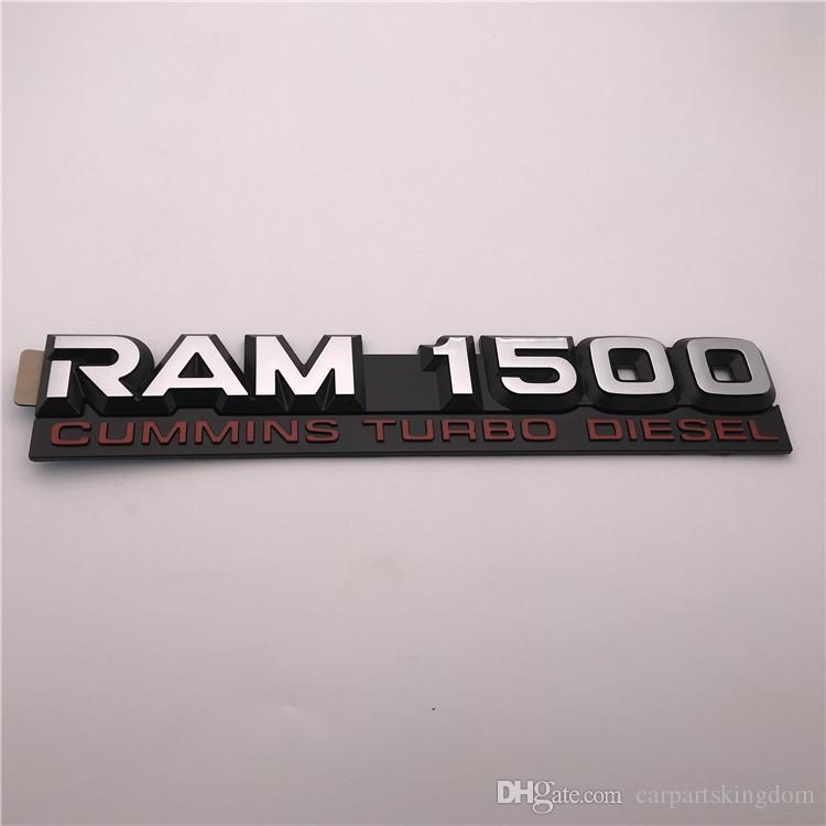 Dodge Ram 2500 3500 Cummins Turbo Diesel Decal Emblem Nameplate-Chrome Black Red