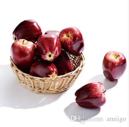 10 Unids Frutas de Apple Diseño Artificial de Gran Tamaño Falso Fruta Casa de Moda Decoración Del Partido de Cocina Niños Aprendizaje Temprano Regalos