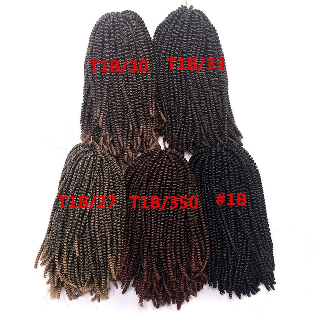 8inch 110g / 50strands Nubian Twist Crochet Braids 옹 브르 카네 칼론 Nubian Twist 용 합성 머리 끈 연장