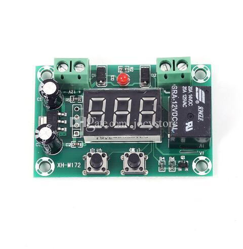 Free shipping! 1pc/lot XH-M172 DC 12V Delay Relay Module Cycle Timer 1-999min Intermittent Work Mode PWM Type