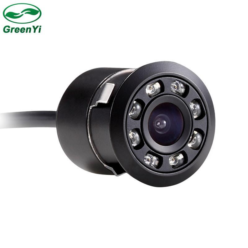 도매 8 LED 야간 시계 18mm 차 주차 역방향 후면보기 백업 카메라와 풀 HD CCD 캠코더 170도 방수