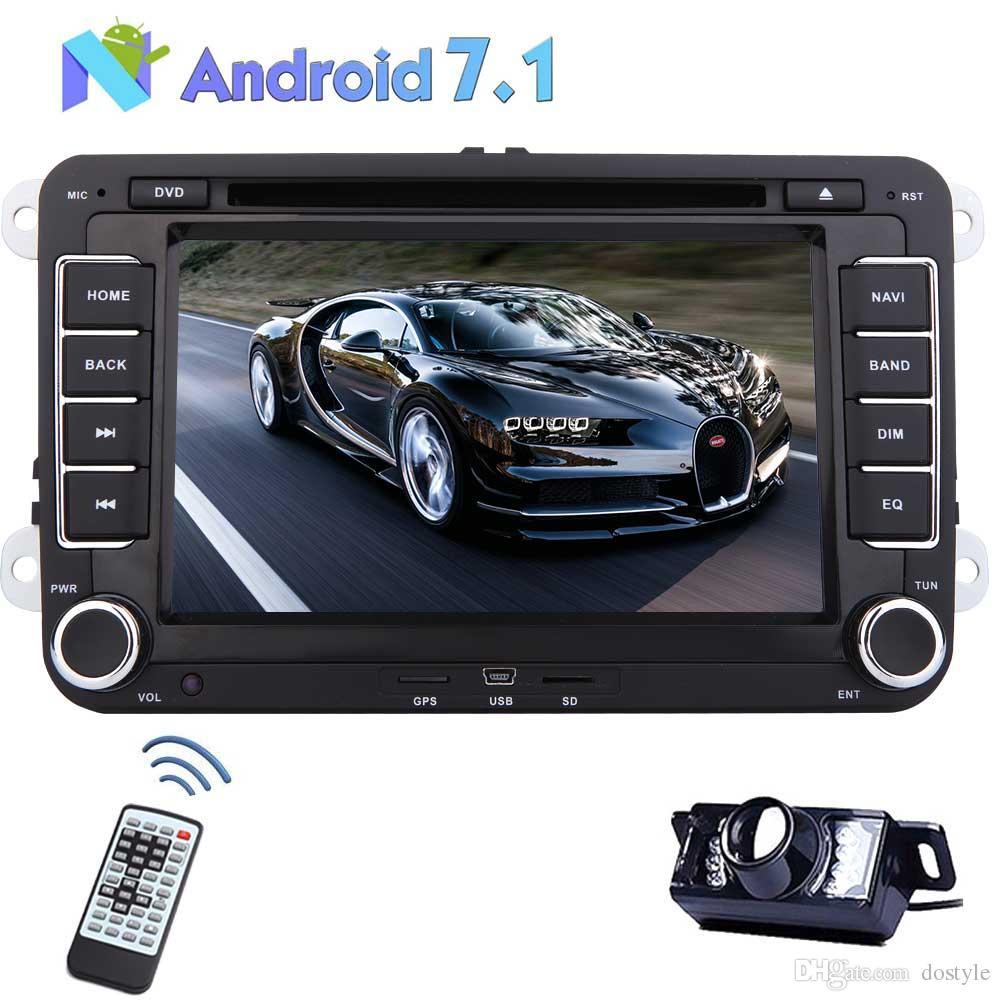 Câmera traseira + Android 7.1 Octa Núcleo Car Radio Navegação GPS do carro DVD para VW Jetta Golf Passat Golf Bora Tiguan Polo Touran Skoda
