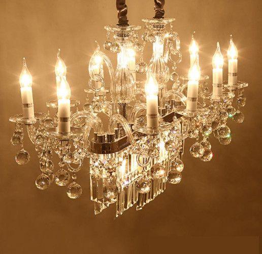 Regron Splendid Chandelier Lamp Giant Rectangular Led Crystal Chandelier Lights Luxury Creative Modern Ceiling Lustre For Bar Hotel Use