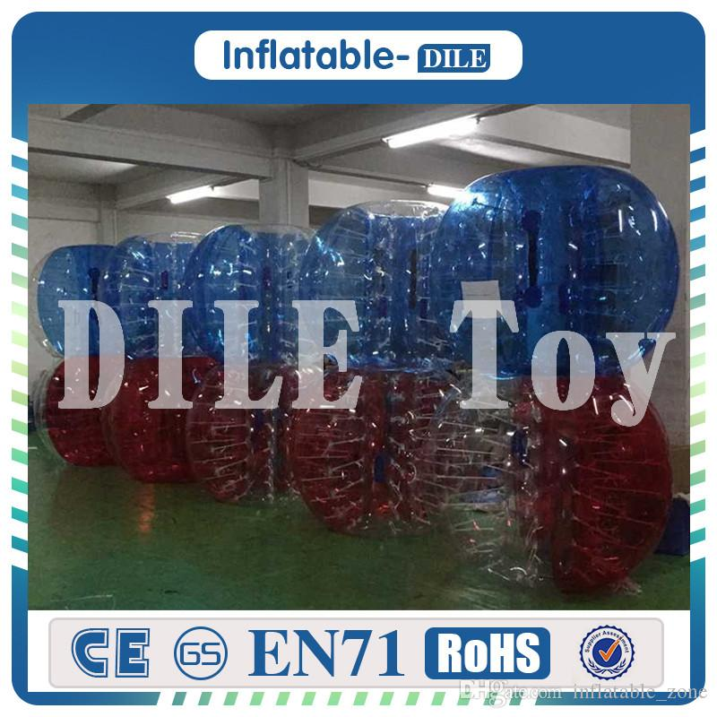 Free Shipping 12 bubble balls (6 half red and clear, and 6 half blue and clear)1.5m Diameter Inflatable Bubble Football