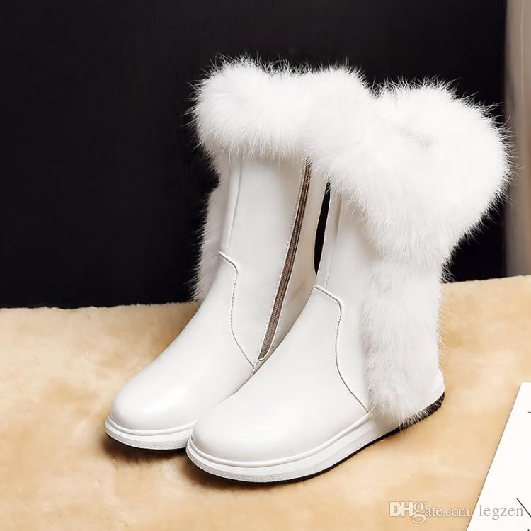 67a3a9a3e64 ... Legen New Cool Women Ankle Boots Winter Platform Round Toe Height  Increasing Boots Female Shoes Woman