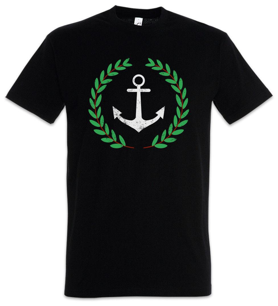 ANCHOR AND WREATH T-SHIRT Pablo Anker und Kranz Escobar Narcos Knoten Funny free shipping Unisex Casual tee gift