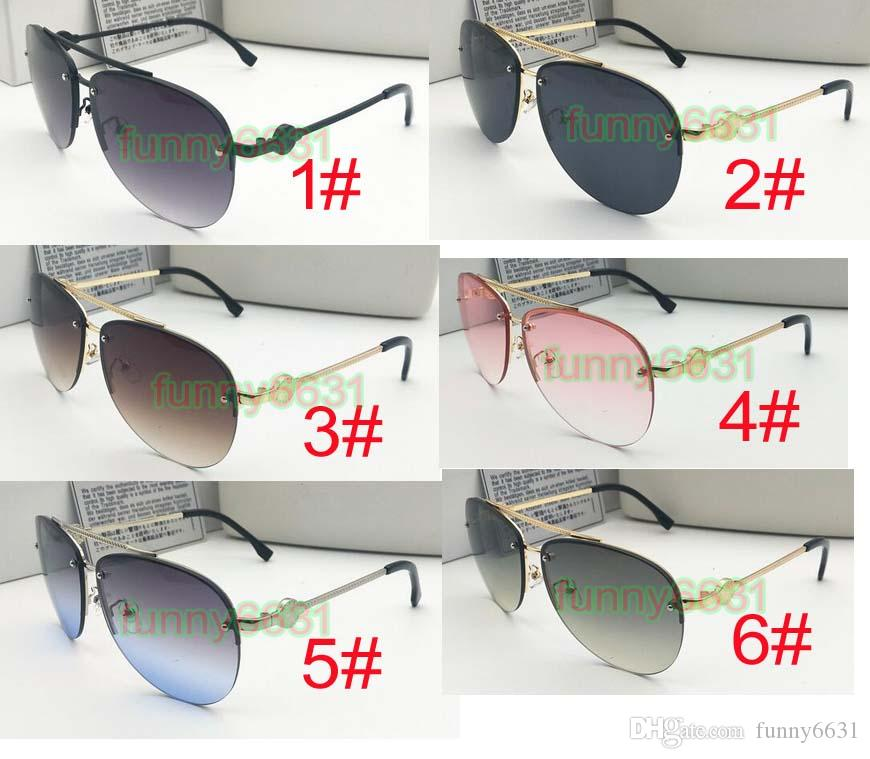 5PCS summer woman outdoor sport color film metal Sunglasses ladies driving goggle reflective mirror sunglasses 6colors A free shipping