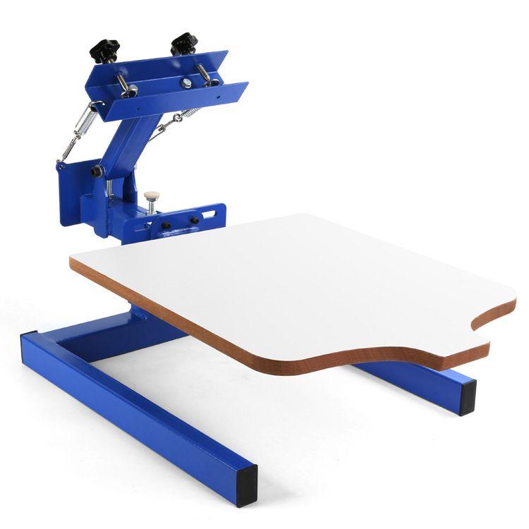 آلة طباعة الشاشة الحريرية 1 محطة طباعة الشاشة مطبعة مزدوجة تي شيرت آلة طباعة الشاشة 1 لون