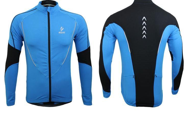 الجملة-الشتاء الملابس الدراجات الجري البريدي الصوف الرجال طويلة الأكمام معطف جاكيتات outdoors الرياضة البدنية الجوارب 2016 الحرارية جيرسي 2017