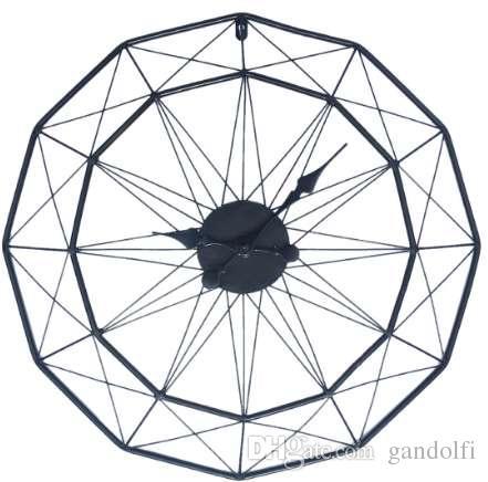 Homingdeco 60 سنتيمتر الكبير ساعة الحائط التصميم الحديث الساعات ل ديكور المنزل الحديد الفن الرجعية النمط الأوروبي شنقا ساعة الحائط الساعات