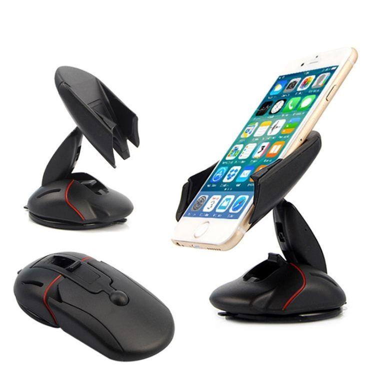 자동차 폰 홀더 아이폰 X 8 7 6 플러스 삼성 갤럭시 S7 S8 A5 용 마우스 모양 마운트 360도