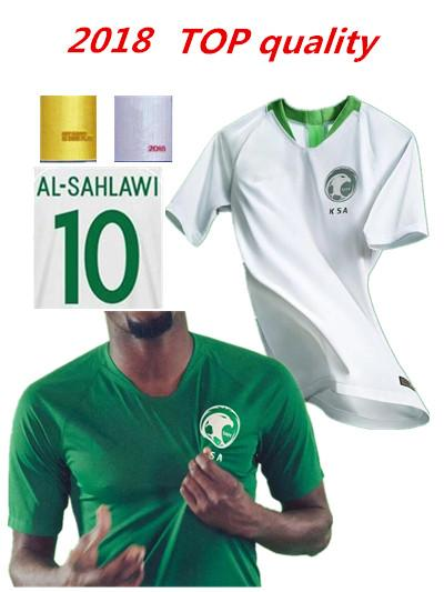 pretty nice 1a970 0d8ea Best New 2018 Saudi Arabia Jersey World Cup Soccer Jerseys 2018 19 Saudi  National Team Home White Football Jersey Shirts Top Aaa Thailand Quality ...