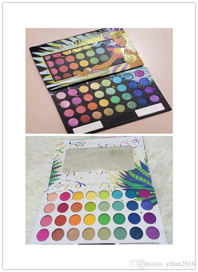 Qualitätsprodukt !! Bring mich zurück zu Bragil Make-up Lidschatten Palette gepressten Pulver Pigment Palette mit Spiegel 35 Farben