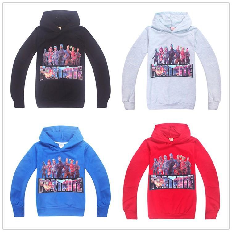 2019 Kids Fortnite Heros Pullover Hoodie Casual Hooded Sweatshirt Jumper  Fortnite Royale Castle Long Sleeve Kids Youth Fleece Sweaters Hot Sale From
