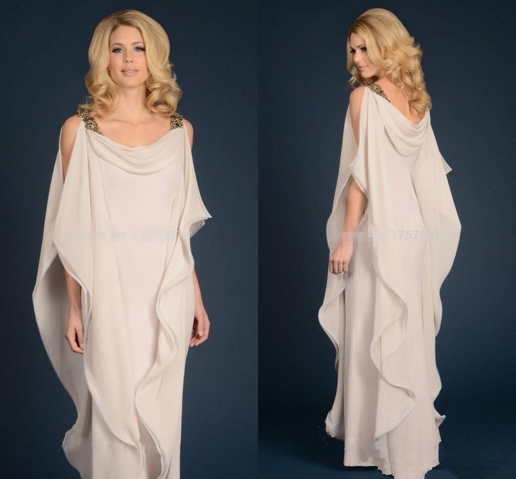 Греко-богиня шифон матери платье с ремнями дешевые длина пола длинные элегантные женщины одевают мать невесты жениха платья