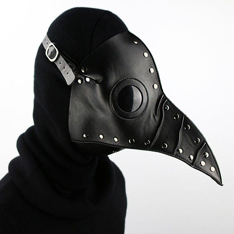 Satin Al Siyah Steampunk Gotik Retro Veba Gaga Doktor Kus Maskesi