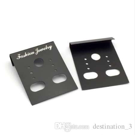 50 قطع ZEROUP البلاستيك حلق الأذن ترصيع السنانير التغليف عرض بطاقة بطاقات لوازم للمجوهرات 29x38 ملليمتر
