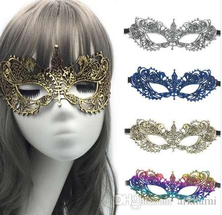 New Girls Woman Lady chapeamento de ouro Prata Moda Máscara Rendas Sexy Prom Party Halloween Masquerade Máscaras de Dança Acessórios