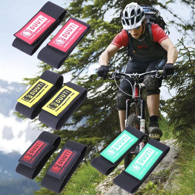 2 adet / grup DUUTI SD-14 Bisiklet Yansıtıcı Ayak Bileği Bacak Bant Bandı Açık Bisiklet Pantolon Pantolon Bantları Klipleri Kayış Bisiklet Koruyucu ...