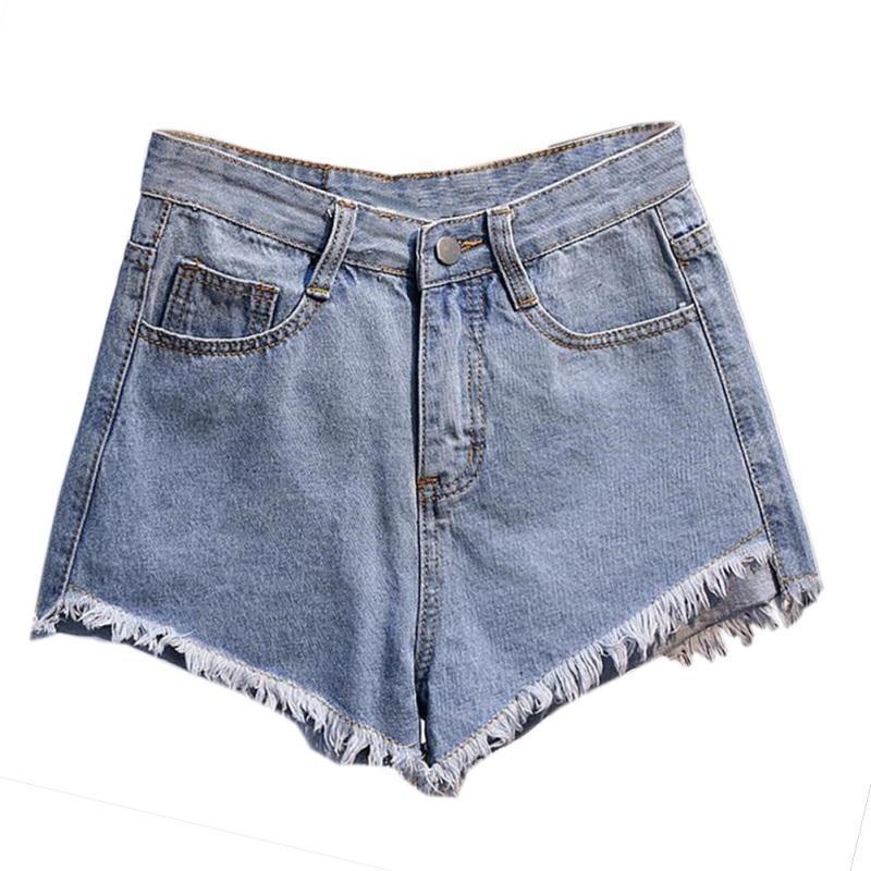 comprare popolare 8fdee d41e9 Acquista Pantaloncini Jeans Neri Bianchi Blu Jeans Donna Jeans Larghi  Strappati Pantaloni Casual Estivi Donna Sexy Club Wear Alta Vita W7 A  $29.71 Dal ...