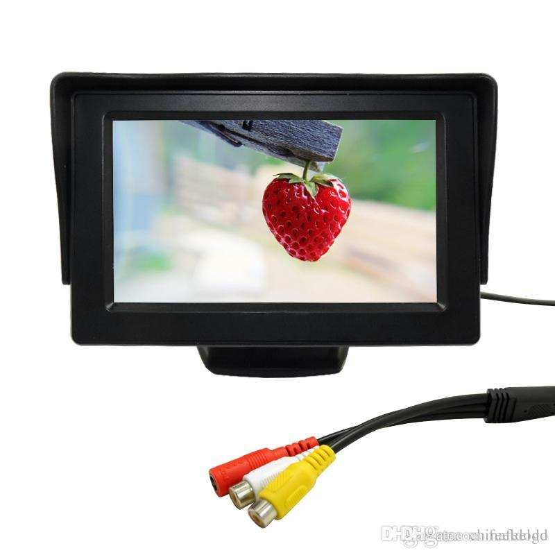 Carro 4.3 polegada Digital Stand-alone Monitor TFT LCD Para Inverter a Câmera de Backup DVD / VCR DC12V-24V # 2799