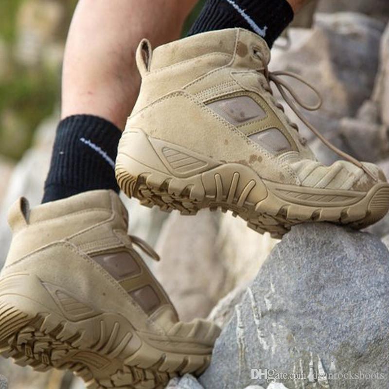 Großhandel Hohe Qualität Taktische Stiefel Männer Klettern Boot Frauen Klettern Schuhe Mann Sportschuhe China Militärstiefel Genius Lederstiefel Armee