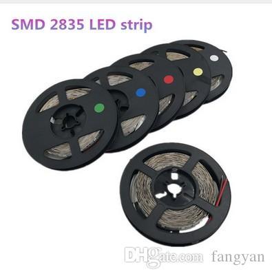 5m 300 LEDs 2835smd LED Strip High Brightness Nonwaterproof DC 12V 60leds / M Diode Adhesive tape super bright than 3528 LED Strip 5M