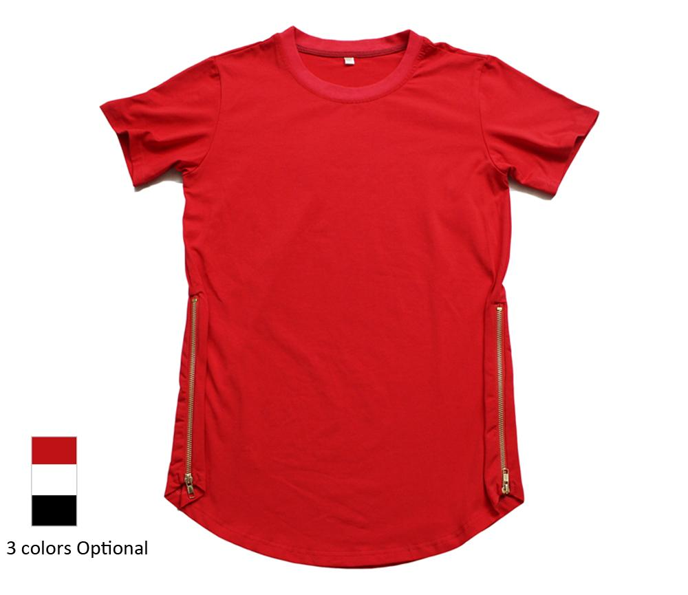 İyi Sürüm, Erkek Hip Hop Genişletilmiş T Shirt Moda 2016 Tyga Tişörtlü Erkekler Yan Fermuar Kısa Kollu Tişört Snapback Tees Tops