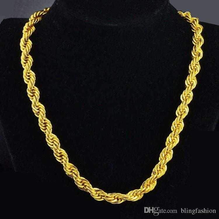 ec78fc30283e2 Top 10 Punto Medio Noticias | Gold Rope Chain Necklace Mens