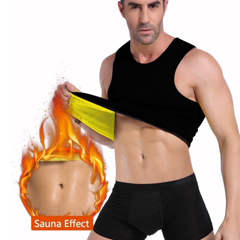 Ningmi Slimming Mens Vest Hot Shirt Sweat Sauna Suit Tummy Fat Burner Waist Trainer Fitness Tank Top Body Shaper Loseweight