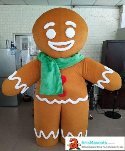 Gingerbread Man traje da mascote dos desenhos animados da mascote trajes para festa de aniversário de crianças mascotes personalizados em Arismascots Character Design Company