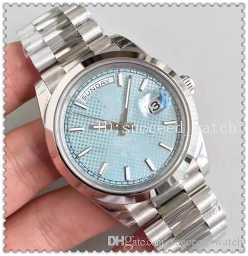 30 relógios de luxo dos homens relógio de aço inoxidável cinta headband 316L azul discagem padrão de discagem movimento automático original dobrável fivela Wristwat