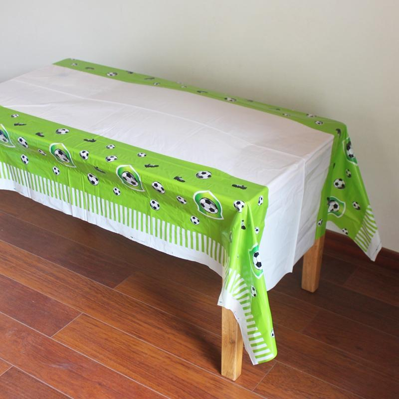 Disposable Plastic TableCloth Football Table Cover For Kids Birthday JS