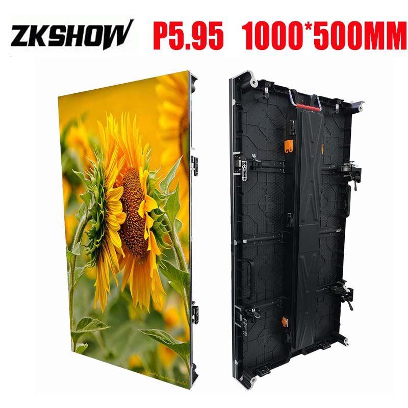 80% de réduction sur le panneau extérieur SMD RVB 3in1 de 500 * 1000mm du panneau d'écran de P5.95 LED de LED de location en aluminium de moulage mécanique sous pression pour des panneaux publicitaires avec le flightcase
