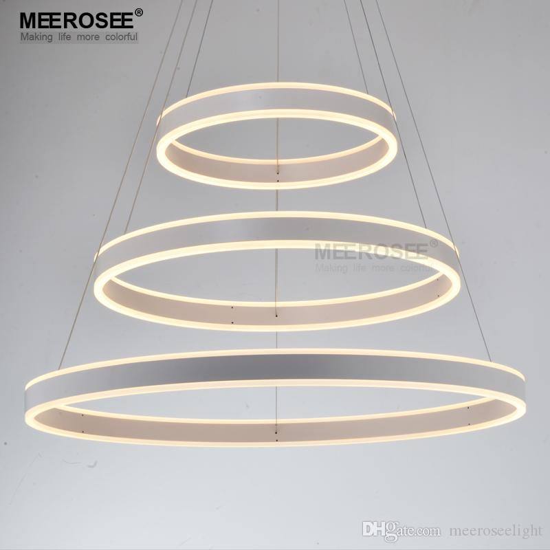 New Modern 3 Circle Rings LED Pendant Lights For Living Room Dining room LED Lustre Pendant Lamp Hanging Ceiling luminaire