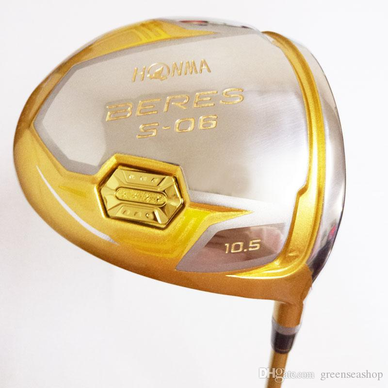 جديد نوادي الجولف HONMA BERES S-06 4 star golf driver 9.5 / 10.5 loft نوادي سائق الجرافيت رمح r / s / ريال freeshipping