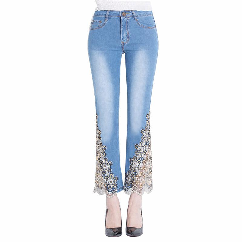 womens new lace jeans