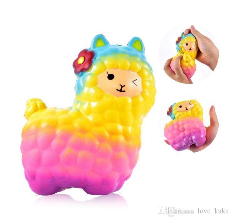 뜨거운 Alpaca Squishy 천천히 상승 컬렉션 선물 장식 장난감 소프트 짜기 전화 스트랩 압축 해제 장난감 12 * 17cm