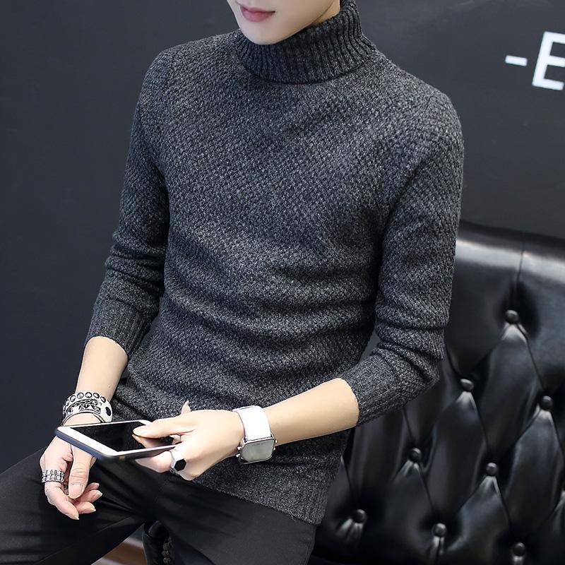 l'inverno maschio di modo si ispessisce per mantenere caldo Collo alto Maglione lavorato a maglia / maglione casuale adatto di colore puro degli uomini