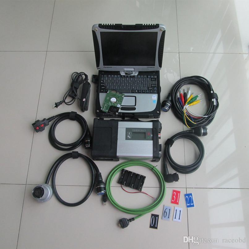 MB STAR C5 Strumento diagnostico CF19 Laptop con 320 GB HDD o programmatore SSD da 360 GB per auto e camion touch screen del computer 2021