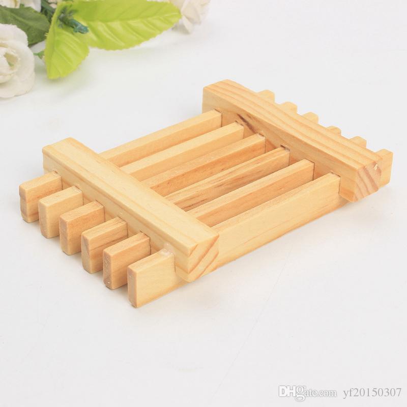 Holz Seifenschale Tray Halter Storage Soap Rack natürlichen Bambus Box Container für Bad Dusche Badezimmer Großhandel