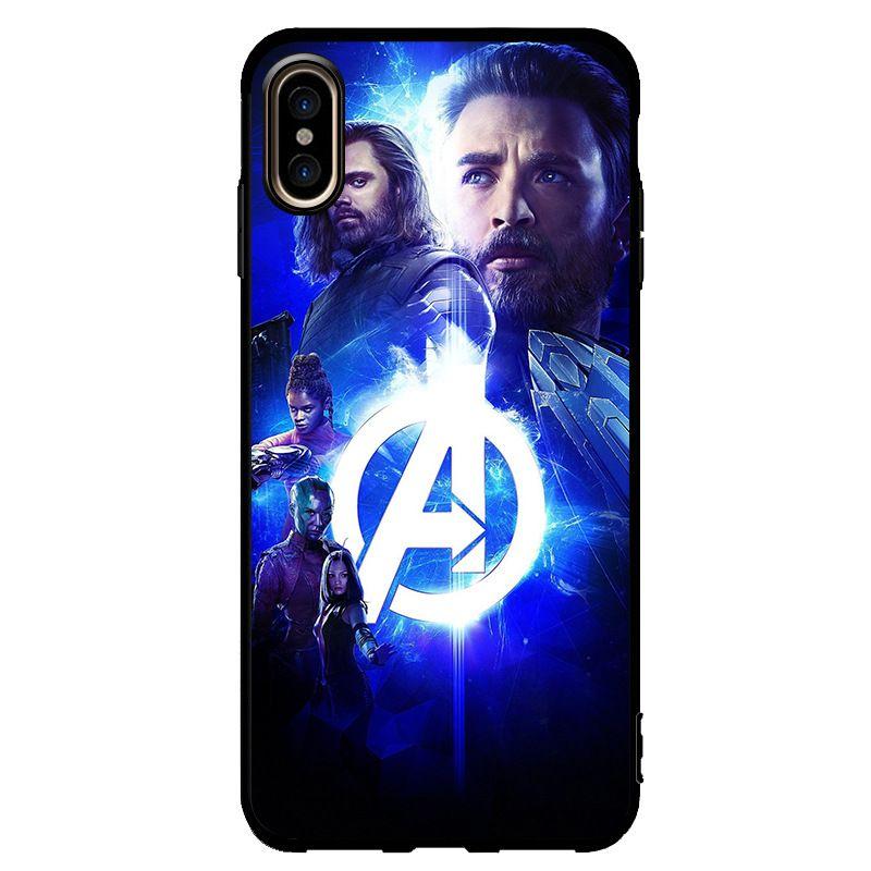 Avengers Marvel Hero Pour IPhone X XR XS Max 8 7 6 S 6 Plus Max Coque De Téléphone Mobile Coque Tempérée Proposé Par Opal, 1,86 €   Fr.Dhgate.Com
