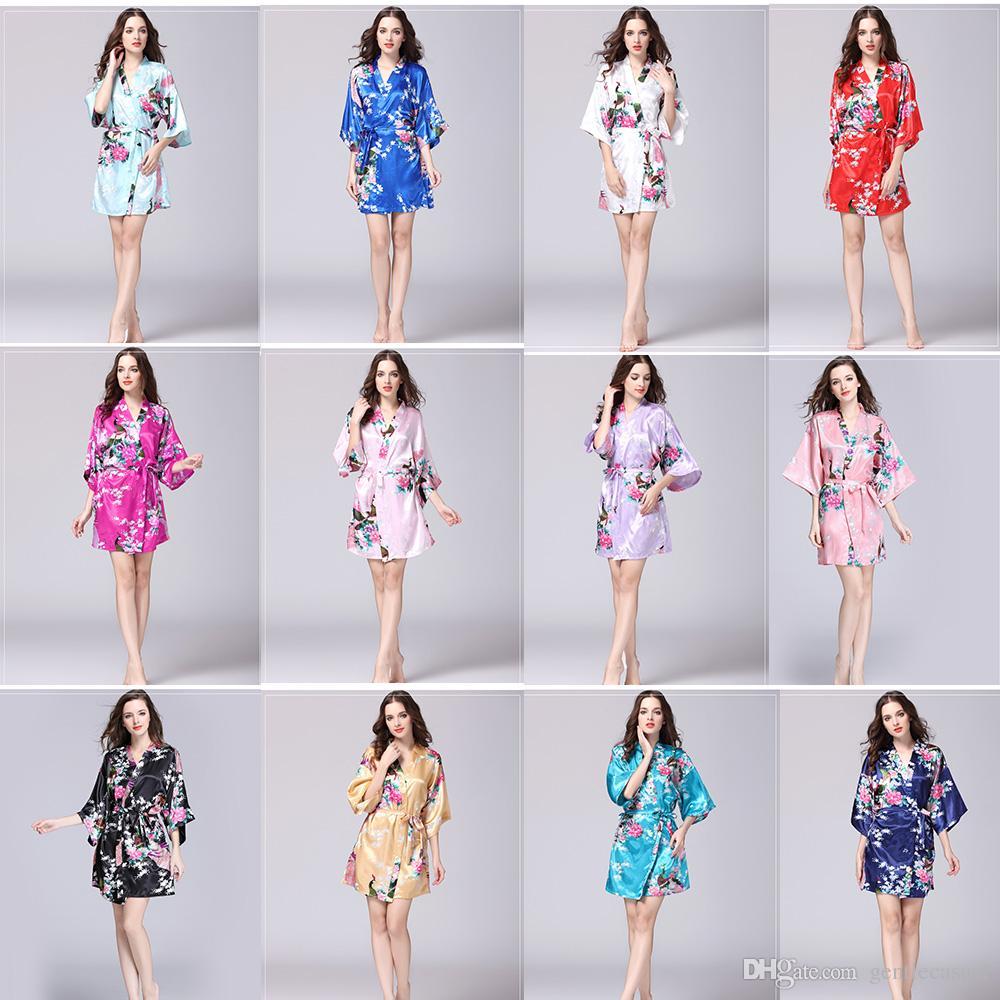 Sommer neue Frauen Sexy Dessous Spitze Nachtwäsche Pfau Blumen Figur Print Nacht-Robe Sexy Wäsche Rayon Frauen Pyjamas