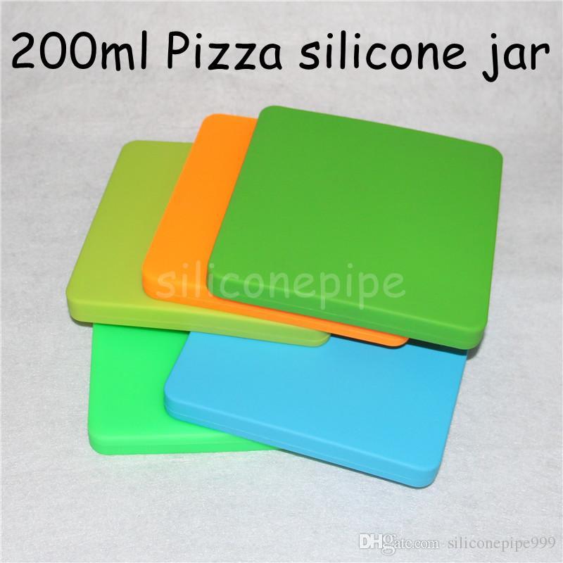 Recipiente de cera antiadherente de silicona extra grande, Novedad Concentrado de pizza Recipiente de aceite BHO para pipas de agua de silicona Vape seca